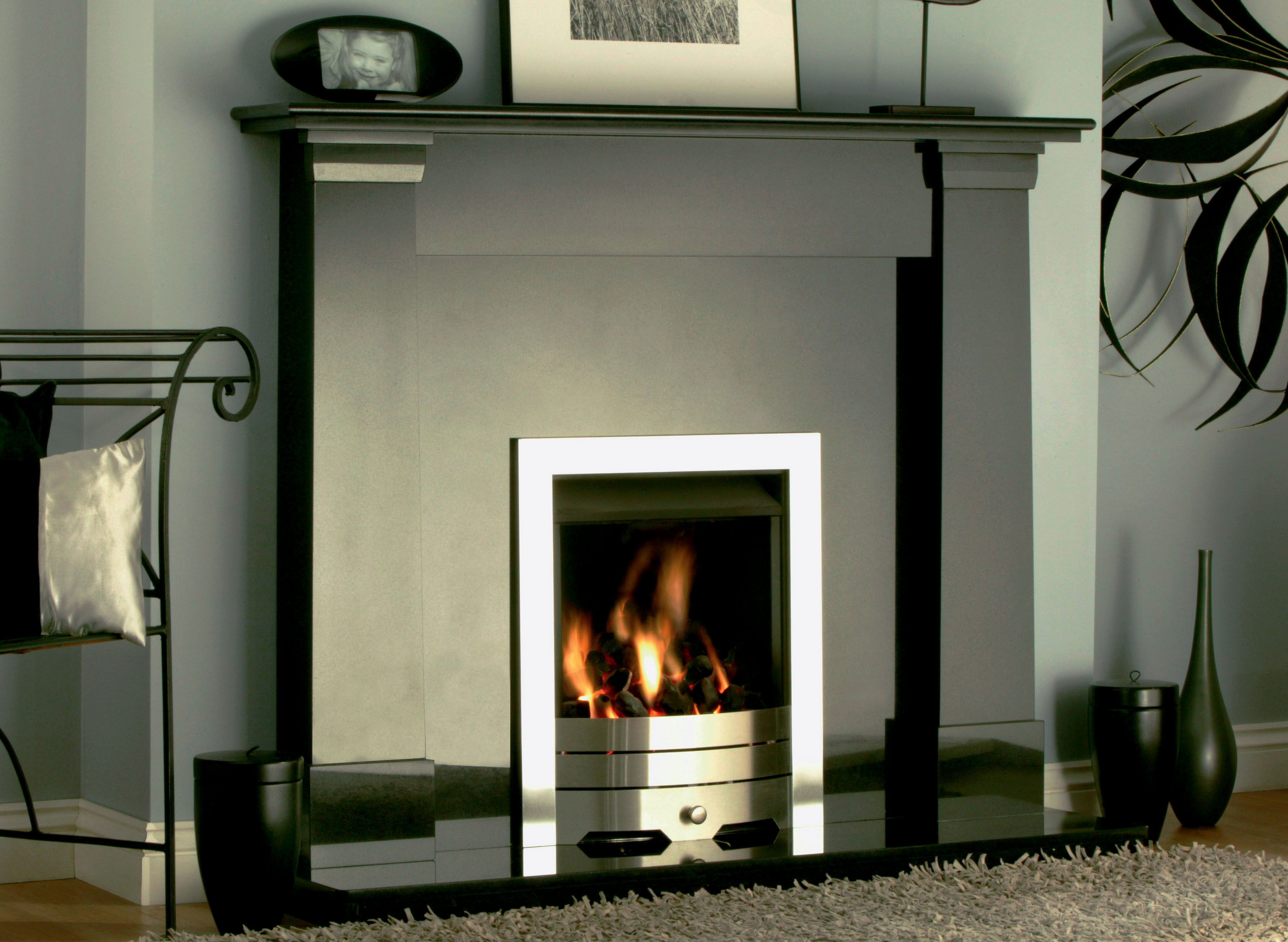 Oslo Black Granite Fireplace - York Fireplaces & Fires