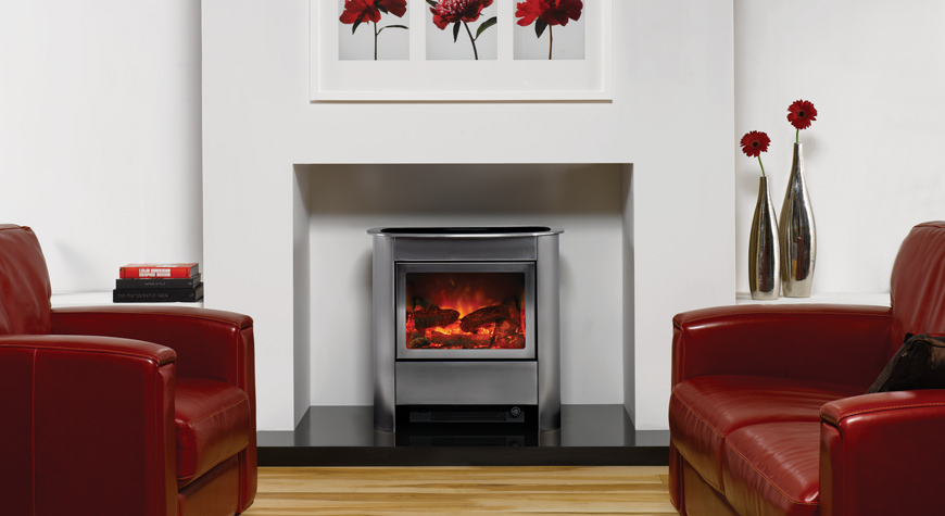 Gazco Steel Manhattan Electric Stove York Fireplaces Amp Fires