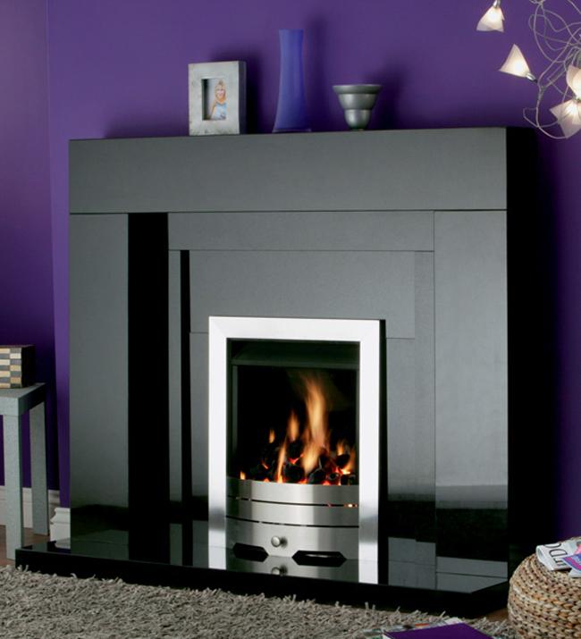 Stonehenge Black Granite Fireplace - York Fireplaces & Fires