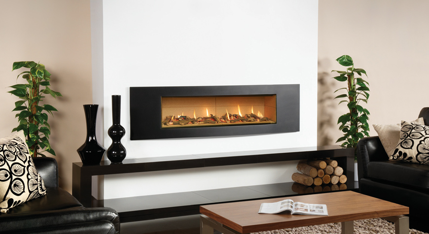 Gazco Studio Verve Hole In Wall Gas Fire York Fireplaces